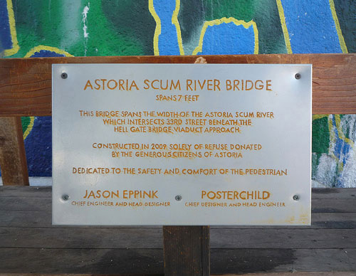 astoria scum river plaque