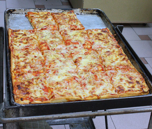 pan of pizza