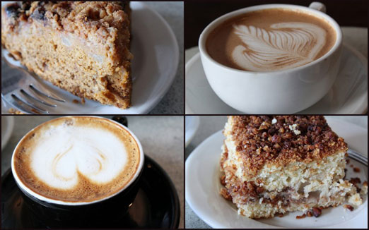 coffee and cake collage