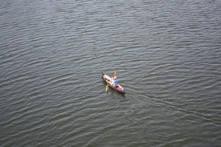 kayaker in Newtown Creek