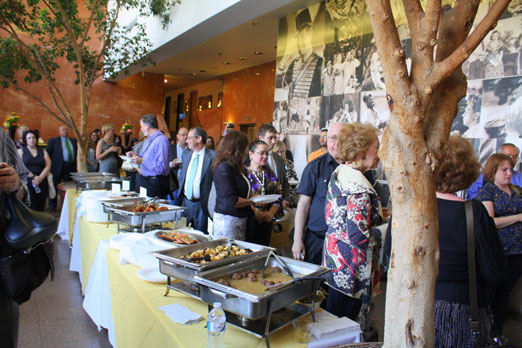 food and people at the QAX kick off party 2011