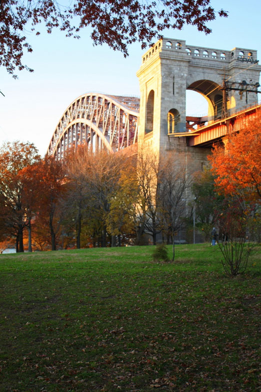 fall hellgate bridge