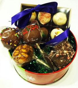 The Chocolate Swirl - mini gift basket