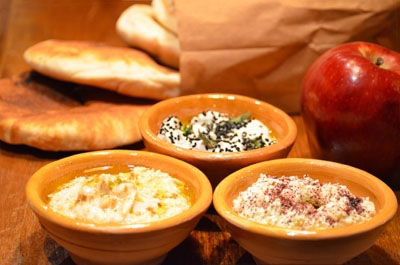 Mezze Place spreads