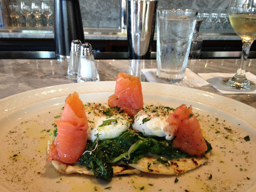 eggs-benedict-salmon-flatbread-mp-taverna-astoria-queens