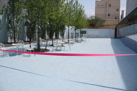empty-kaufman-courtyard-ribbon-cutting-ceremony-momi-astoria-queens