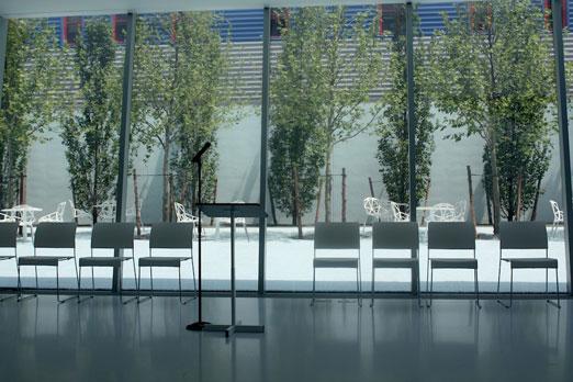 presentation-setup-kaufman-courtyard-ribbon-cutting-ceremony-momi-astoria-queens
