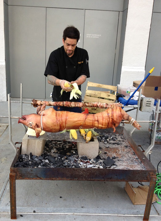 roast-pig-william-hallet-queens-art-express-qax-block-party-astoria-queens
