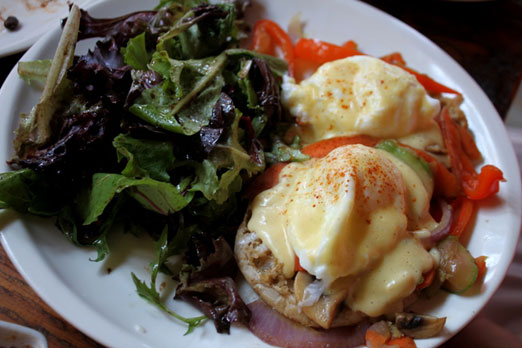 Vegetarian eggs benedict rar bar