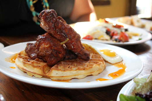 rarbar chicken and waffles