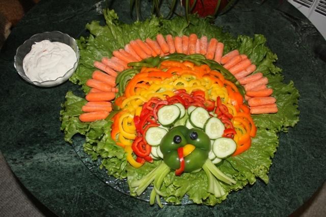 turkey-crudite