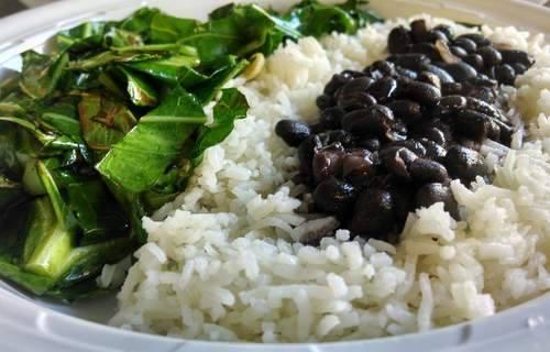 collard-greens-black-beans-rice-pao-de-queijo-astoria-queens