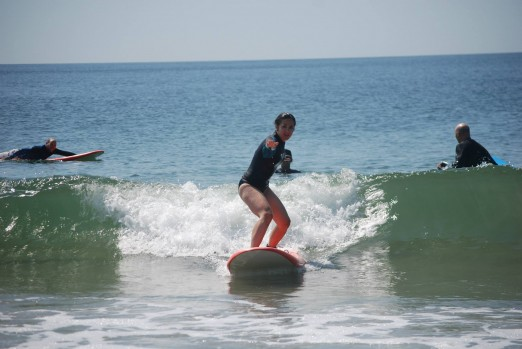 Yep, here's me trying to surf - Judith