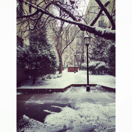 A snowy Acropolis.  Submitted by Arielle Panzarino.