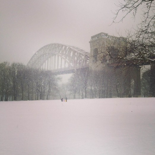 Snowy Hellgate Bridge, submitted by Sabrina Khan
