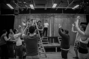 The cast of Floyd Collins in rehearsal