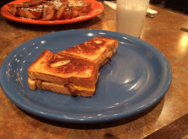 Bacon grilled cheese and a vanilla milkshake sounds like an excellent way to end the night! Photo Credit: Kat J. via Yelp
