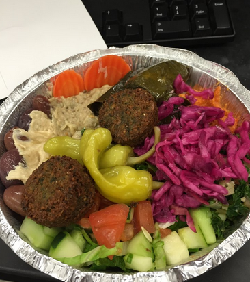 The Middle East Combo. Look at all those colorful veggies! Photo Credit: Khaleda K. Via Yelp