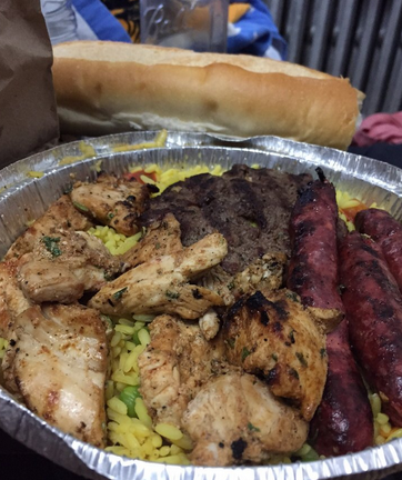 The Hungry Man Platter. Whether you are a hungry man OR hungry woman, this hits the spot. Photo Credit: Joshua V. Via Yelp