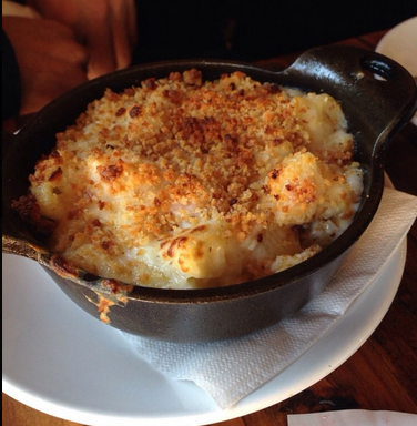 Mac and cheese is pretty much perfect on its own...but bacon takes it to another level. Photo Credit: Joyce B. Via Yelp