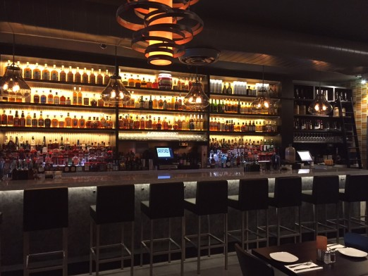 How gorgeous is this new bar? And just look at all that whiskey!