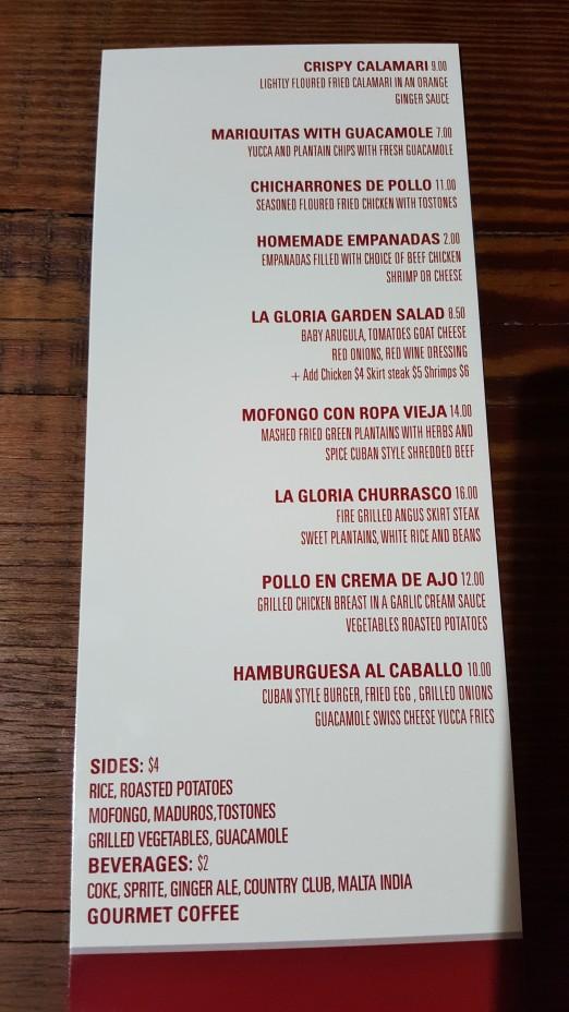 La_Gloria_Menu_Astoria