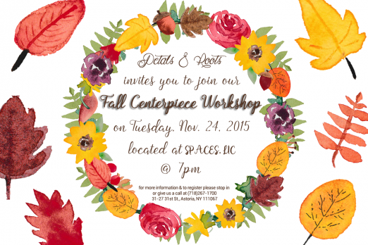 Fall Workshop Graphic