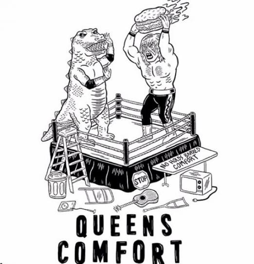 T-shirt design_Queens Comfort