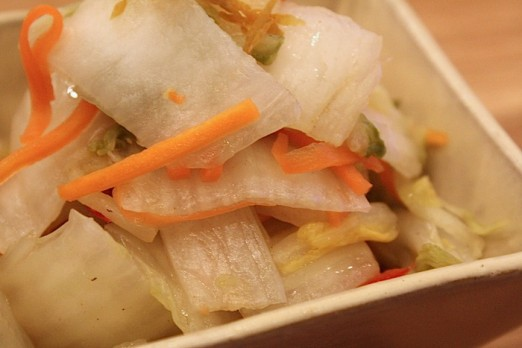 pickled-vegetables-closeup-shuya-cafe-de-ramen-astoria-queens