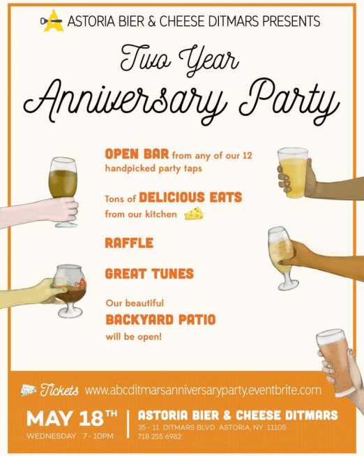 ABC-Ditmars-second-anniversary-party-flyer