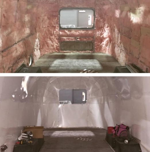 The airstream: before and after some TLC!