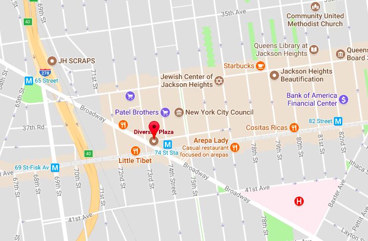 diversity-plaza-jackson-heights-queens-map