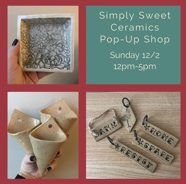 simply sweet ceramics pop-up shops at the brass owl