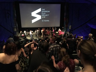 Sparrow Film Project 2018 audience dance party