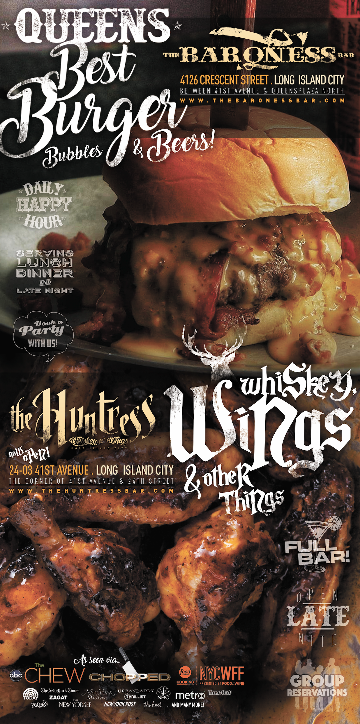 The Huntress Whiskey and Wings LIC